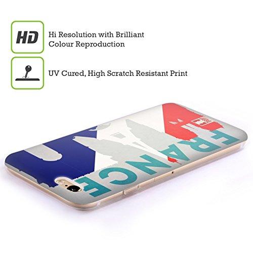 Head Case Designs Italien Flaggen Und Wahrzeichen Soft Gel Hülle für Apple iPhone 6 / 6s Frankreich