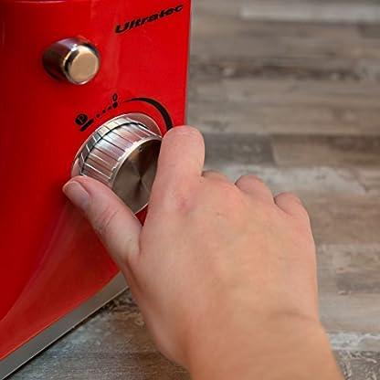 Ultratec-Kchenmaschine-mit-Edelstahl-Rhrschssel-RhrmaschineKnetmaschine-mit-45-Liter-Edelstahlschssel–Kchen-Maschinen-inklusive-Ballon-Schneebesen-Knethaken-und-Quirl-800-Watt
