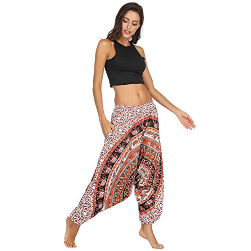 Hommes Femmes Pantalons Longs Dames Danse Legging Mode Casual Hiver Lâche Pantalons De Yoga Baggy Boho Aladdin Sarouel Pantalon Bellelove