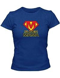 T-Shirt Geschenk Super Mama Muttertag Geburtstag