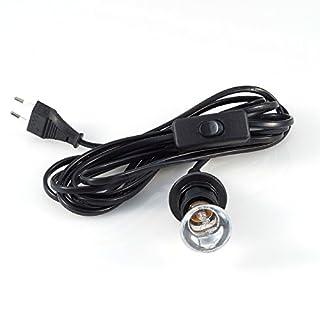 Pajoma E14 Lampenfassung mit Schalter, cm, schwarz, 86034
