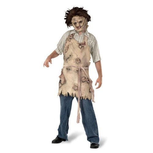 assacre Kostüm Schürze Zubehör Horror für Halloween beige (Texas Chainsaw Massacre-kostüme Für Halloween)