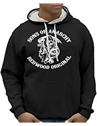 Sons of Anarchy Redwood SAMCRO ! ! Sweatshirt mit Kapuze - div. Farben Gr.S M L XL