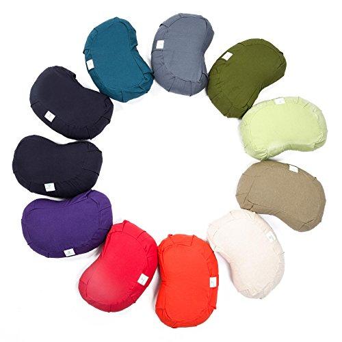 #DoYourYoga Yogakissen Halbmond »Shankar«/Klassisches Yoga Meditationskissen/100% Baumwolle/42 cm x 25 cm/In vielen wunderschönen Farben erhältlich/Unbekannt