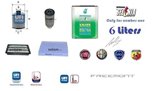 Kit filtri tagliando + 6 Litri Olio Selenia 5W30