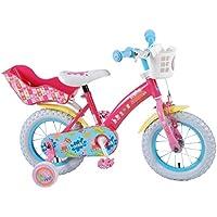 387222346c8abc Vélo Enfant Fille Peppa Pig 12 Pouces Frein Avant sur Le Guidon et  Rétropédalage Stabisateurs Panier