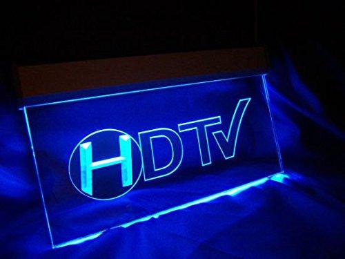 HDTV Leuchtschild LED Neu Schild Laden Reklame Neonschild Heimkino DTS Dolby Digital