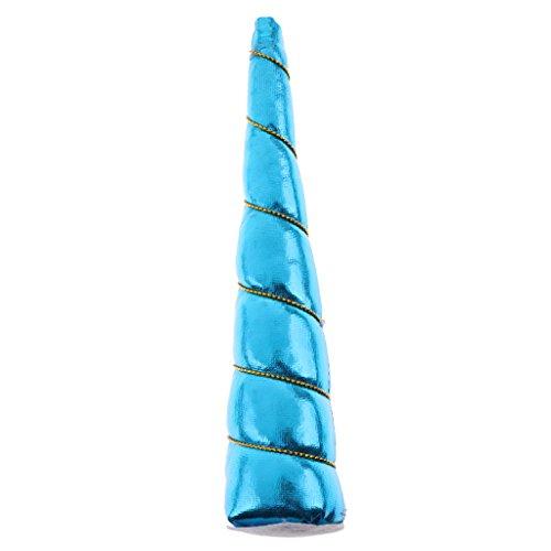inhorn DIY zubehör Stirnband Horn Partydeko Zubehör - Himmelblau (Diy Blumen-halloween-kostüm)