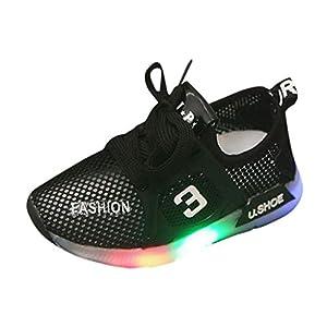 A-Arist Shoes Abstand Unisex-Kinder LED Sneakers Mode Blinkschuhe Low-Top Casual Outdoor Sneakers Laufschuhe Sportschuhe Hallenschuhe für Jungen und Mädchen Größe 21-30