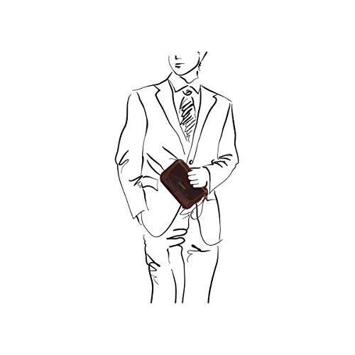 Tuscany Leather - Ivan - Borsello a mano in pelle Marrone - TL140849/1 Testa di Moro