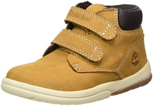 Timberland Kids Toddle Tracks Hook and Loop Stiefel, Braun (Wheat), 28 EU (Track-schuh)