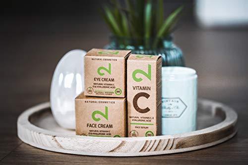 DUAL Eye Cream   Crema Para Ojos Natural y Vegana  Vitamina C y Ácido Hialurónico   Microalgas y Brócoli   Para Contorno de Ojos   Hidratación y Anti-edad   Certificado   25m   Hecho en Alemania