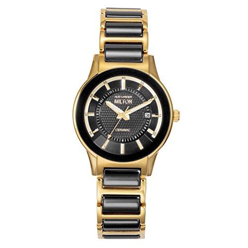 ALEXANDER MILTON - montre femme - KEA, noir/dore