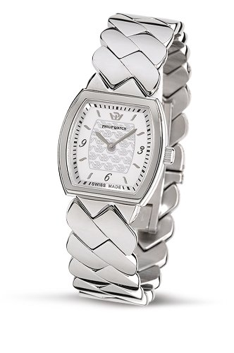 Philip Ladies Encelade Analogue Watch R8253108515 with Quartz Movement, White Dial and Stainless Steel Case