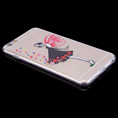 Custodia iPhone 6 Plus, iPhone 6S Plus Cover Sottile Silicone, SainCat Cover per iPhone 6/6S Plus Custodia Silicone Morbido, Bling Glitter Shock-Absorption Ultra Slim Transparent Silicone Case Ultra S Ragazza