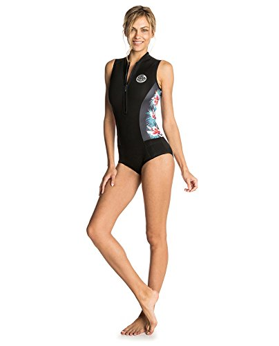 Rip Curl 2018 Womens G-Bomb 1mm Sleeveless Shorty Wetsuit Black Sub WSP7MW Sizes- - Ladies 10