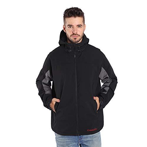 CONQUECO Herren Beheizte Jacken Wasserdicht Winddicht warm Softshell Winterjacke mit Akku und Ladegerät zum Outdoor Arbeiten