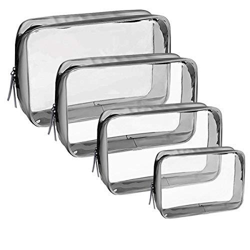4 Piezas Bolsa de Aseo Transparente