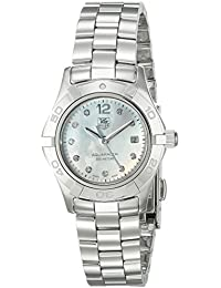 Tag Heuer Aquaracer 10-Diamond Women's Quartz Watch with Mother of Pearl Dial Analogue Display and Silver Stainless Steel Bracelet WAF1415.BA0824
