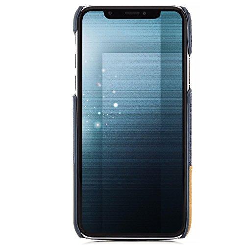 Cover iPhone X Custodia + Vetro Temperato Completa Case Denim Cover [zanasta] Copertura Back Cover, Ultra Sottile e Leggero (Stoffa Jeans)Blu Blu