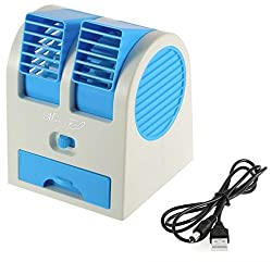 Dtes Portable Mini Portable Air Conditioner Desk Humidifier Cooling Fan