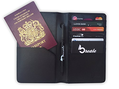travel-wallet-passport-holder-and-document-organiser-black-pu-leather-from-breale-credit-card-and-id