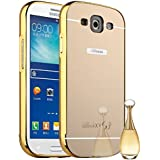 Funda Espejo Aluminio Metal Carcasa para Samsung Galaxy S3 SIII i9300/S3 Neo i9301 Color Oro