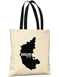 Bengaluru City Pride Reusable 100% Cotton Eco Friendly Printed Tote Bag From State Pride -T