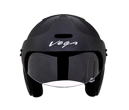 Vega Budds Half Face Helmet (Black, L)