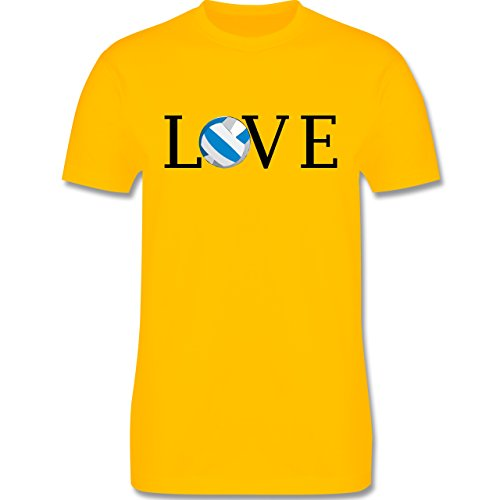 Volleyball - Volleyball Liebe Love - Herren Premium T-Shirt Gelb