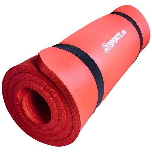ScSPORTS Gymnastikmatte, rot, 190 x 100 x 1,5 cm, 10000531