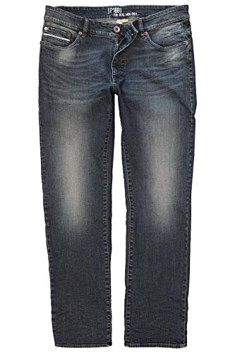 JP 1880 Herren große Größen bis 66, Vintage-Jeans, Hose mit Wasch- und Knittereffekten, 5-Pocket, Loose Fit, Normale Leibhöhe darkblue 64 716790 93-64