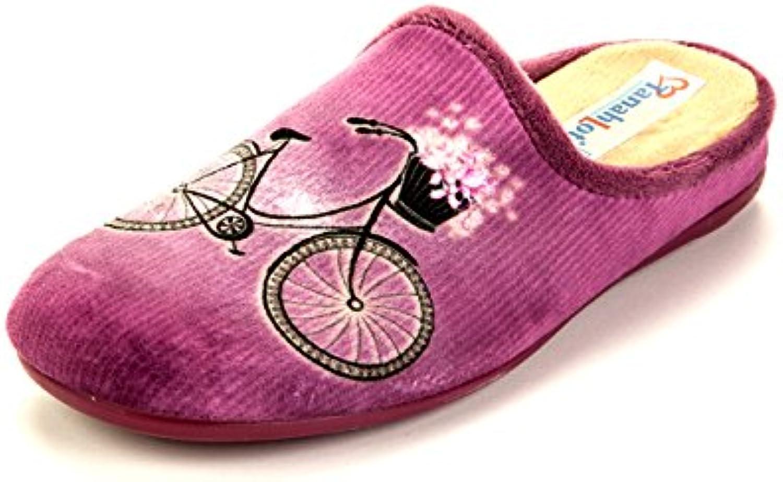 Tanahlot 5551078 - Zapatillas de estar por casa para mujer violeta Malva