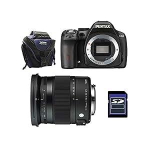 PENTAX K50 Noir + SIGMA 17-70 CONTEMPORARY GARANTI 3 ans + Sac + SD 4Go