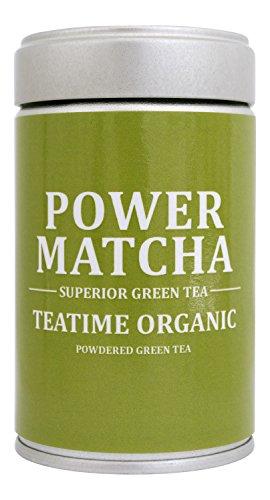 POWER MATCHA | DAS ORIGINAL | TEATIME | Matcha-Tee-Pulver | Grüntee-Pulver für...