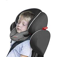 SANDINI SleepFix® Kids Outlast® – Kinder Schlafkissen/Nackenkissen mit Stützfunktion und Temperaturausgleich – Kindersitz-Zubehör für Auto/Fahrrad/Reise – Verhindert Abkippen des Kopfes im Schlaf