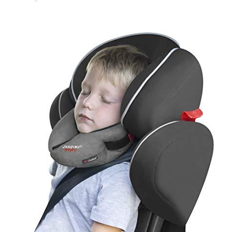 SANDINI SleepFix® Kids Outlast® - Kinder Schlafkissen/Nackenkissen mit Stützfunktion und Temperaturausgleich - Kindersitz-Zubehör für Auto/Fahrrad/Reise - Verhindert Abkippen des Kopfes im Schlaf