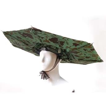 Chapeau parapluie pliant pour peche camping anti-UV Parasol camo