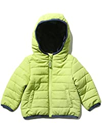 M&Co Baby Boy Long Sleeve Green Lightweight Padded Zip Front Hooded Jacket