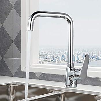 Bec pivotant M/élangeurs de lavabo de cuisine Buy4Top Prime Robinet de cuisine Mitigeur /évier avec le Chrome