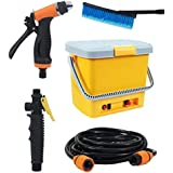 Unique One High Pressure Portable Automatic Car Washer, Water Spray Gun | With All Accessories, 16 Liter Tank (Multi-Color)