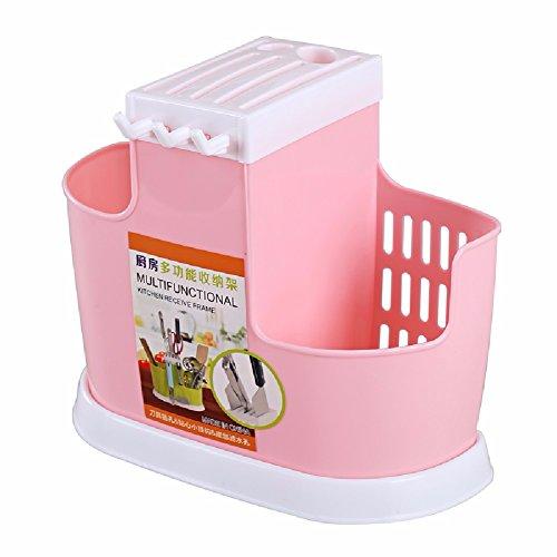 ZPSPZ Küchenregal Lishui Kreative Geschirr Rack - Messer Und Löffel Gitter Hängen Stäbchen,Pink