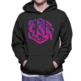33637a273 Dva Purple Artwork Overwatch Men's Hooded Sweatshirt: Amazon.co.uk: Clothing