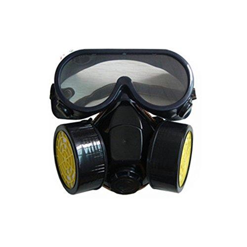 Anti Dust Spray chemischen Gas Dual Kartusche Atemschutzmaske Malen Filter Maske Brillen Sicherheit Masken (Sicherheits-maske Sauerstoff)