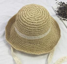 Brolux(TM) 1 PC Summer Boater Hats For Women Straw Sun Hat Lady Girls Lace Ribbon Bow Panma Beach Hat Floppy Female Travel Folding Chapeu [Beige ] - Floppy Ribbon