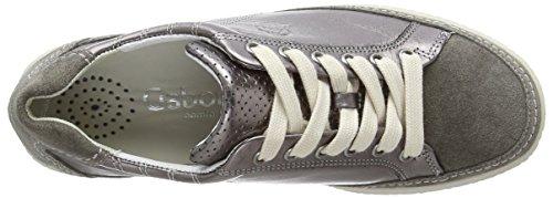 Gabor  Amulet, Sneakers Basses femme Argent (Argento Metallic/Peltro Velour Oil)