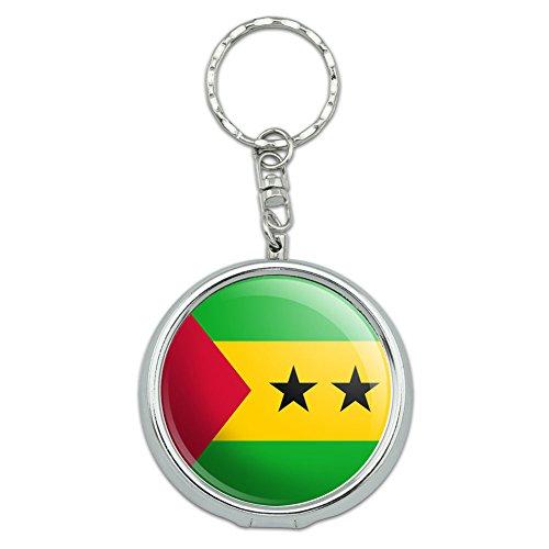 Portable Travel Größe Pocket Geldbörse Aschenbecher Schlüsselanhänger LAND National Flagge o-s Sao Tome and Principe Country Flag (Sao Geldbörse)