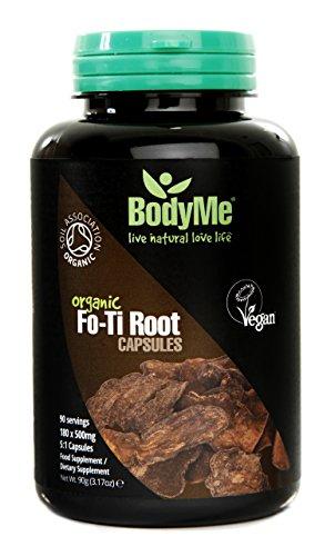 BodyMe Bio Fo-Ti 5:1 Kapseln | 500mg x 180 | He Shou Wu | Zertifiziert Soil Association