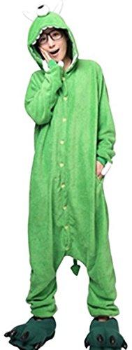 Minetom Pyjama Jumpsuit Tieroutfit Tierkostüme Schlafanzug Tiger Cosplay Sleepsuit mit Kapuze Erwachsene Unisex Lounge Fleece-Overall Kostüm Weiche Hausschuhe Bärentatze (Monster EU M) (Monster Pyjama Kostüme)