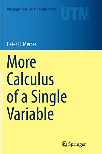 More Calculus of a Single Variable PDF Books